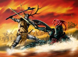 Battle_of_the_Trident_Robert_Rhaegar_by_Mike_S_Miller